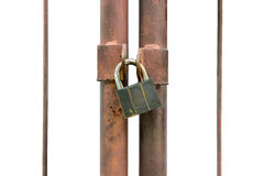 Isolated lock key Royalty Free Stock Images