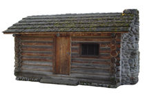 Isolated Log Cabin royalty free stock photography