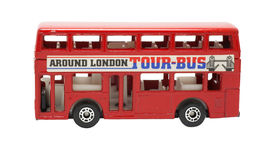Isolated london bus Royalty Free Stock Images