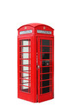 Isolated London Telephone Booth Royalty Free Stock Photography
