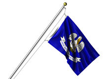 Isolated Louisiana Flag Stock Images