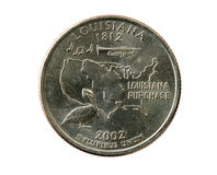 Isolated Louisiana Quarter Royalty Free Stock Photo