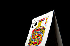 Isolated Low Key Black Jack Royalty Free Stock Images