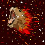 Isolated Low poly colorful lion with white back ground,animal geometric,vector. Isolated Low poly colorful lion with white back ground,animal geometric stock illustration