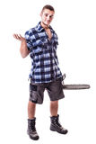 Isolated lumberjack Royalty Free Stock Image