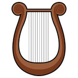 Isolated lyre icon. Isolated icon of a lyre, Vector illustration Stock Photos