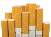 Isolated Macro Closeup Filter Cigarettes Royalty Free Stock Photography