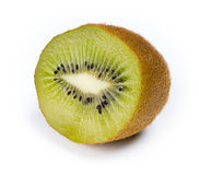 Isolated macro of sliced half kiwi fruit Royalty Free Stock Photo
