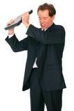Isolated Mad Senior Caucasian Businessman Royalty Free Stock Photography