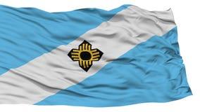 Isolated Madison Flag, Waving on White Background Stock Photo