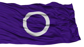 Isolated Maebashi Flag, Capital of Japan Prefecture, Waving on White Background Royalty Free Stock Photo