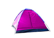 Isolated magenta dome tent on white. With clipping path Stock Photography