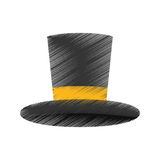 Isolated magician hat Royalty Free Stock Image