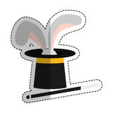 Isolated magician hat Stock Images