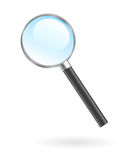 Isolated magnifying glass. Magnifying glass lens on white high quality illustration, web search icon Stock Photography