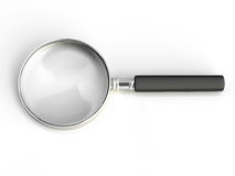 Isolated magnifying glass Royalty Free Stock Images