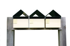 Isolated mail boxes Royalty Free Stock Image