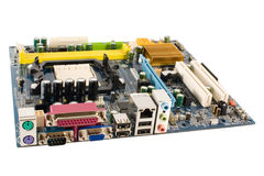 Isolated Mainboard Royalty Free Stock Image