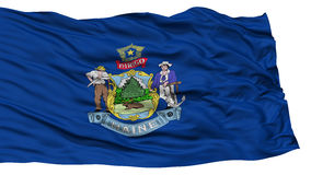 Isolated Maine Flag, USA state Stock Photography