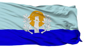 Isolated Maldonado city flag, Uruguay. Maldonado flag, city of Uruguay, realistic animation isolated on white seamless loop - 10 seconds long alpha channel is stock video
