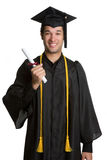 Isolated Male Graduate Royalty Free Stock Photography