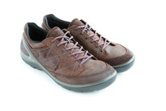 Isolated male modern style jogging shoes Royalty Free Stock Photos