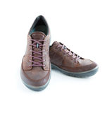 Isolated male modern style shoes. Isolated male modern style jogging shoes Royalty Free Stock Photography