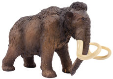 Isolated mammoth figurine made of plastic Royalty Free Stock Photography