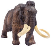 Isolated mammoth figurine made of plastic Royalty Free Stock Image