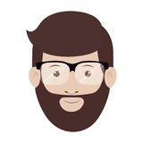 Isolated man with glasses design. Man with glasses icon. Male avatar person people and human theme. Isolated design. Vector illustration Stock Photo