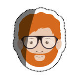 Isolated man with glasses design. Man with glasses icon. Male avatar person people and human theme. Isolated design. Vector illustration Royalty Free Stock Photography