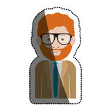 Isolated man with glasses design. Man with glasses icon. Male avatar person people and human theme. Isolated design. Vector illustration Stock Image