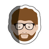 Isolated man with glasses design. Man with glasses icon. Male avatar person people and human theme. Isolated design. Vector illustration Royalty Free Stock Image