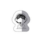 Isolated man operator design. Man operator icon. Call center technical service online and support theme. Isolated design. Vector illustration Stock Images