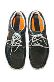 Isolated man shoes. The isolated man shoes. Gray colors Stock Image