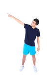Isolated man in sport wear Royalty Free Stock Photos