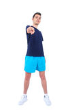 Isolated man in sport wear Stock Images