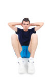 Isolated man in sport wear Royalty Free Stock Photo