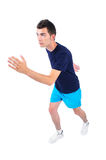 Isolated man in sport wear Royalty Free Stock Image