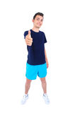 Isolated man in sport wear Stock Image