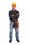 Isolated man tool. Isolated standing young man tool Royalty Free Stock Photography