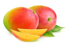 Isolated mango fruits royalty free stock photography