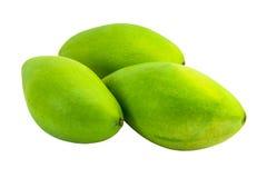 Isolated  mangoes. Isolated mangoes on the white background Royalty Free Stock Photo