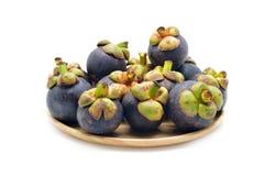 Isolated mangosteen fruits Royalty Free Stock Image