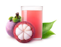 Isolated mangosteen juice Royalty Free Stock Image