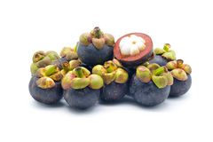 Isolated mangosteen Stock Photography