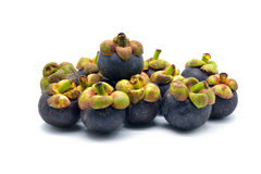 Isolated mangosteen Stock Photos