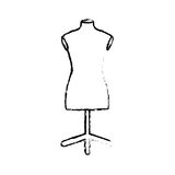 Isolated mannequin body Royalty Free Stock Photos