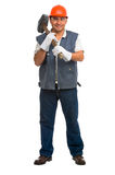 Isolated manual worker Stock Photo