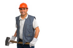 Isolated manual worker Stock Image